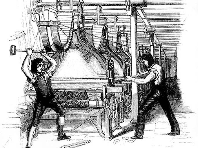 纺织工捣毁机器